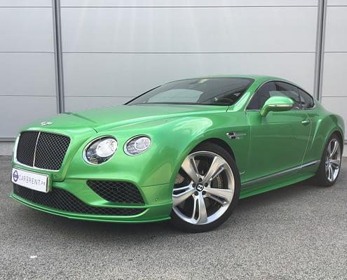 Car4rent Bentley speed
