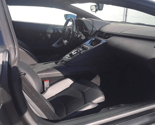 discover lamborghini aventador roadster interior thanks to car4rent