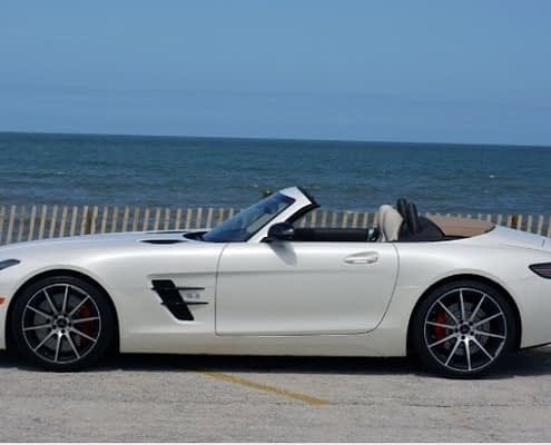Louer une gt amg gt roadster blanche