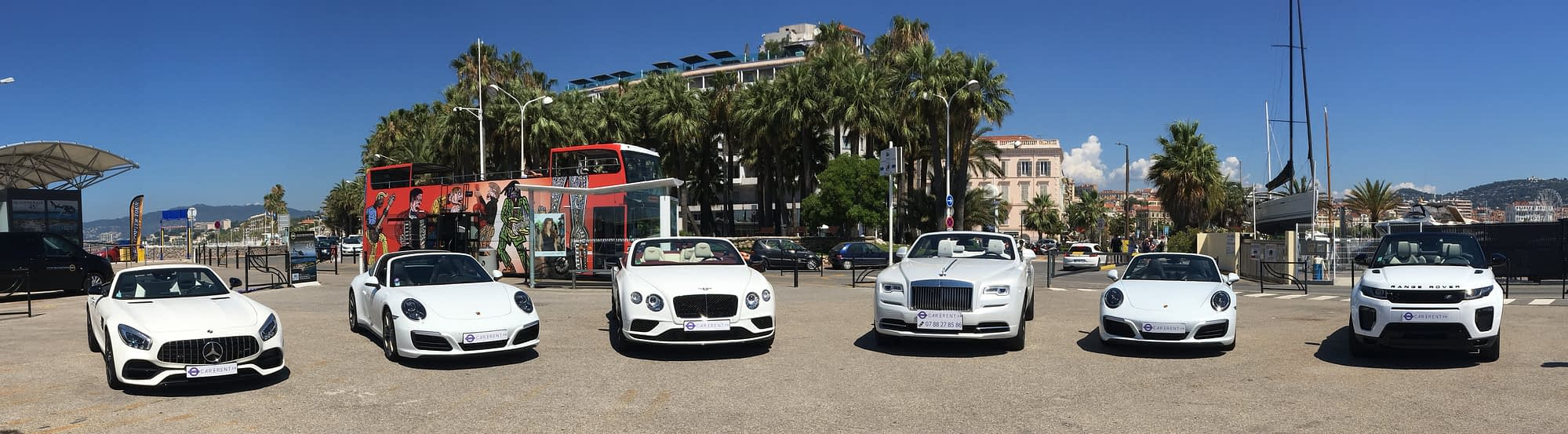 White collection Car4rent Cannes French Riviera