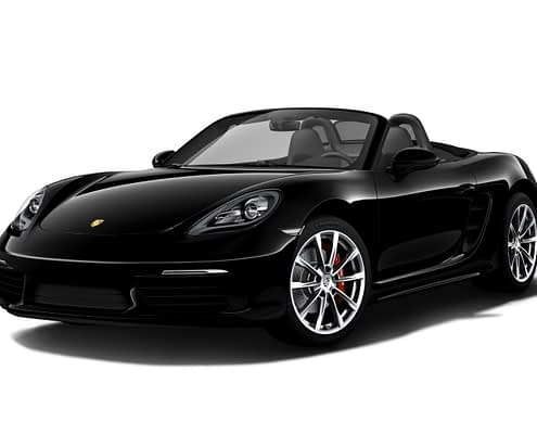Porsche 718 Boxster S in Car4Rent garage