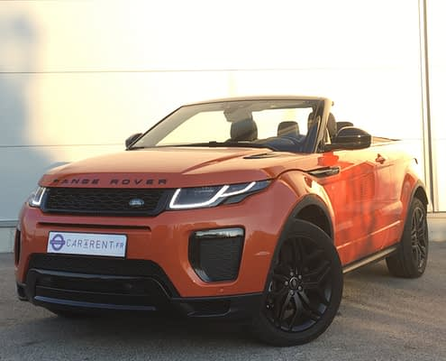 rent range rover evoque convertible cannes