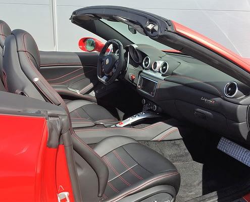 discover ferrari california T interior Car4Rent
