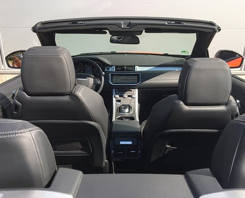 evoque interior 4-seat convertible car4rent
