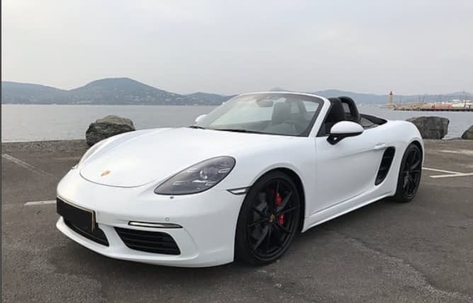 boxster s face saint tropez car4rent location voiture sport cote d'azur